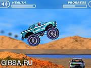 Флеш игра онлайн Сумасшествие 4 колес