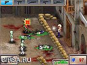 Флеш игра онлайн Зомби-город / GUNROX - Zombietown