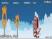 Флеш игра онлайн Christmas Cannon Blast