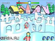 Флеш игра онлайн Нападение крепости снежка / Snow Fortress Attack