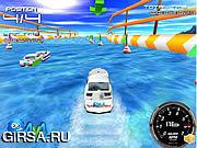 Флеш игра онлайн 3D Опасное путешествие в шторм / 3D Storm Boat