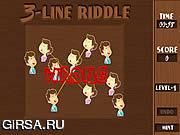 Флеш игра онлайн 3 Линии Загадку / 3 Line Riddle