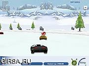 Флеш игра онлайн 3D гонки на снегу / 3D Snow Race