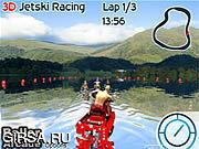 Флеш игра онлайн Ледяные Гонки 3D / 3D Jetski Racing