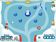 Флеш игра онлайн Pinball 2 шарика снежка / Snow Ball Pinball 2