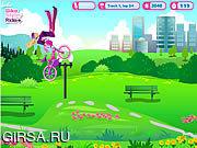 Флеш игра онлайн Ездить Стильный Велосипед Барби / Barbie Bike Stylin' Ride