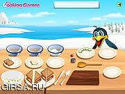 Флеш игра онлайн Готовим с Барби: бутерброд  с копченым лососем