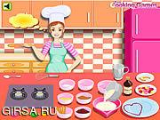 Флеш игра онлайн Barbie Cooking: Valentine Blancmange