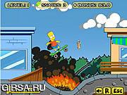Флеш игра онлайн Барт на Скейте