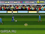 Флеш игра онлайн Бэтман играет в футбол / Batman Soccer