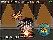 Флеш игра онлайн Мощность удара Бэтмена
