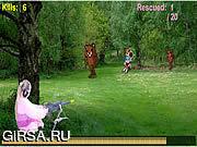 Флеш игра онлайн ПулемЈтчик медведя / Bear Gunner