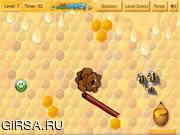 Флеш игра онлайн Медведь против пчел