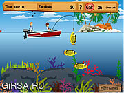 Флеш игра онлайн Бен 10 Fishing Pro