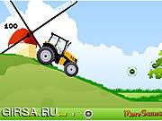 Флеш игра онлайн Бен10 и трактор