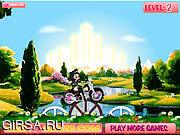 Флеш игра онлайн Фантазия boop езда на велосипеде / Boop's Biking Fantasy