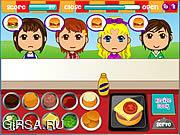 Флеш игра онлайн Обслуживание в бюргере / Burgerlicious