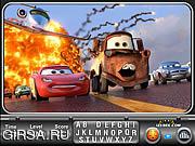 Флеш игра онлайн Машинки 2 - Найти буквы