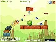 Флеш игра онлайн Кот-о-пульт / Cat-o-pult