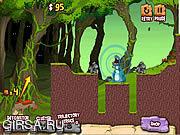Флеш игра онлайн Пещерные люди против динозавров