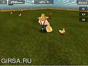 Флеш игра онлайн Курятник 3Д / Chicken Run 3D