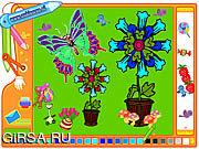 Флеш игра онлайн Бабочка изображения расцветки / Coloring Picture Butterfly
