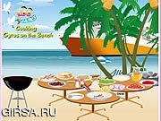 Флеш игра онлайн Варить гироскопы на пляже / Cooking Gyros On The Beach