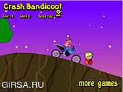 Флеш игра онлайн Crash Bandicoot Bike 2