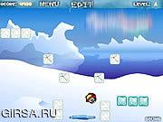 Флеш игра онлайн Шальной пингвин / Crazy Penguin