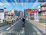 Флеш игра онлайн Шальной Бегун / Crazy Running