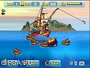 Флеш игра онлайн Defend Fish Boat