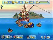 Флеш игра онлайн Defend Fish Boat