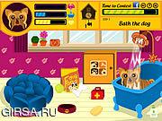 Флеш игра онлайн Забота о собачке