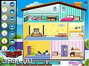 Флеш игра онлайн Кукольный дом Барби / Doll House
