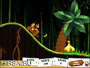 Флеш игра онлайн Донки Хот в джунглях / Donkey Kong Jungle Ride