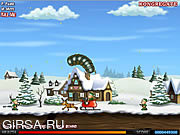 Флеш игра онлайн Effing Worms Xmas