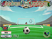 Флеш игра онлайн Стрелялки 2012 / Euro Shoot - Out 2012