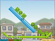 Флеш игра онлайн Цветные шарики / Fanged Fun