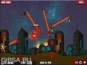 Флеш игра онлайн Flaming Zoombooka 2