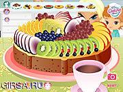 Флеш игра онлайн Праздничный торт / Flan Fun
