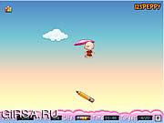 Флеш игра онлайн Плавающий Ребенок / Floating School Kid