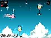 Флеш игра онлайн Летающие свиньи / Flying Chops