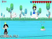 Флеш игра онлайн Принц лягушки / Frog Prince