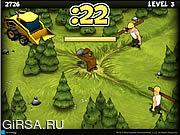 Флеш игра онлайн Лесной защитник / Furry Face Off