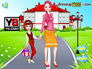 Флеш игра онлайн Go To School With Mother