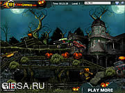 Флеш игра онлайн Хэллоуинские гонки на кладбище / Halloween Graveyard Racing Y8