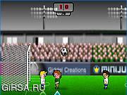 Флеш игра онлайн Head Action Soccer