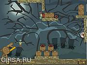 Флеш игра онлайн Зомби на вилы!