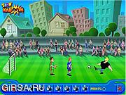 Флеш игра онлайн Джонни Браво - футбольный чемпионат / Johnny Bravo Soccer Champ