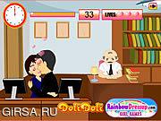 Флеш игра онлайн Kissing In The Office